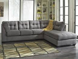 Sofa Fabric Stores 2 Piece Sectional W Sleeper Sofa U0026 Chaise Maier Charcoal 2