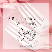 where to do your wedding registry five for your wedding registry