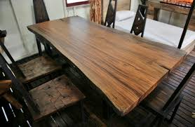 Slab Wood Table by Solid Slab Wood Table Custom Sizes Available By Thaislabfurniture