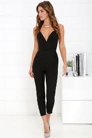formal jumpsuit nbd leaving black jumpsuit sleeveless jumpsuit 141 00