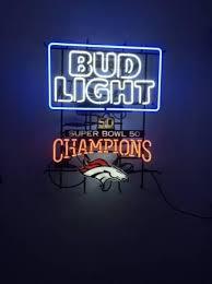 bud light neon signs for sale bud light denver broncos neon sign nfl teams neon light real neon