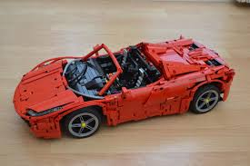 lego ferrari 458 lego moc 1767 red spider technic 2014 rebrickable build with