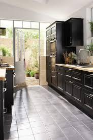 cuisine noir laqué plan de travail bois ides de plan de travail noir laqu galerie dimages