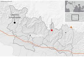 Where Is Nepal On The Map by Nepal Rocked By 7 3 Magnitude Earthquake Near Mount Everest