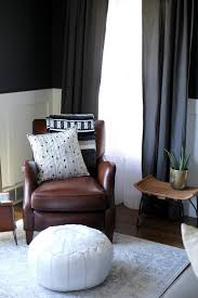 Coffee Bag Curtains by Pink Style Charcoal Living Room Reveal