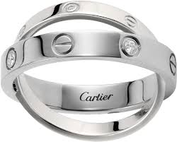 cartier platinum rings images Crb4215700 love ring white gold diamonds cartier png