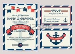 nautical wedding invitation cards sea theme wedding