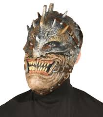 warrior mask realistic scary creepy grinning mouth theme