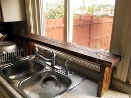 Shelf Over Kitchen Sink by Pallet Wood Over The Sink Window Shelf Kitchen Update 5 Stow U0026tellu