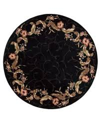 Round Flower Rugs Black Floral Rugs Roselawnlutheran