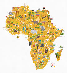 World Map Africa by World Map On Behance