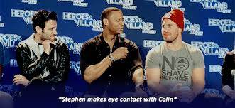 colin s reaction welllll i have always shipped the smoaking