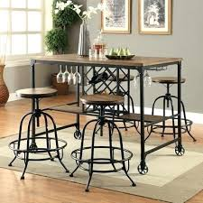 square pub table with storage bar table with wine rack counter height kitchen table with storage
