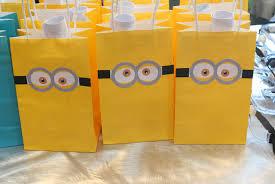 minion gift bags minion birthday party 16 bit crafting