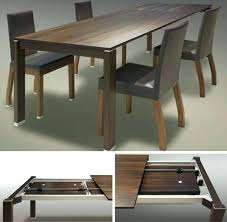 Dining Room Table Tops Dining Room Table Extendable Retractable Dining Table Space Saving
