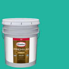 glidden premium 5 gal hdgb01 bright teal surprise satin latex