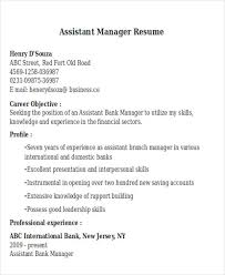 Bank Manager Resume Samples by 42 Manager Resume Templates Free U0026 Premium Templates