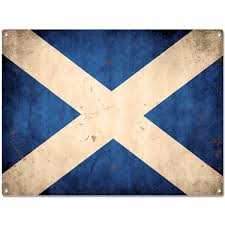 scotland flag distressed metal sign world travel decor