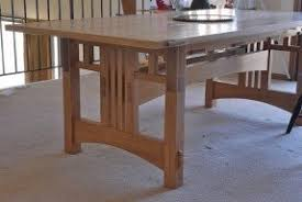 Arts And Crafts Dining Room Furniture Craftsman Style Dining Table Foter