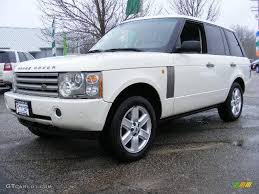 white land rover black rims 2003 chawton white land rover range rover hse 24900935 gtcarlot