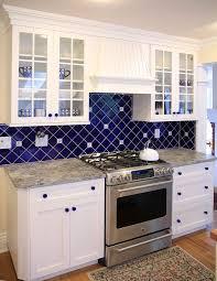 blue backsplash kitchen cobalt blue backsplash kitchen traditional with ceramic tile for