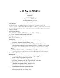 Child Care Resume Templates Free Free Resume Templates Examples Sample Word Inside 79 Mesmerizing