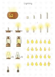 halloween vector character and scenes multi pack