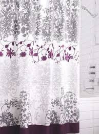 Curtains With Purple In Them Park Pleated Shower Curtain Brown And