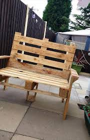 How To Make Patio Furniture Out Of Pallets by Diy Pallet Bench And Coffee Table
