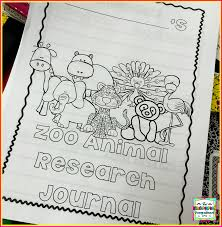 research and writing in kindergarten zoo animals the