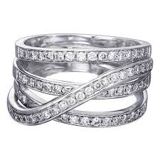 intertwined wedding rings wedding band intertwined diamond wedding band 0 50 tcw in 14k