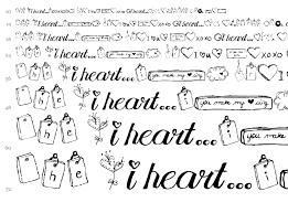 mtf i heart sketches font holiday valentine fonts fontzzz com
