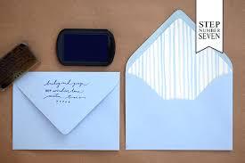 Tri Fold Invitations Diy Tutorial Stamped Nautical Tri Fold Wedding Invitation Suite