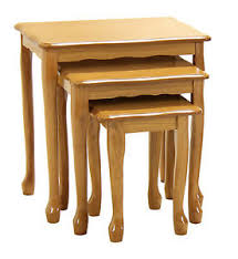 golden oak end tables queen anne nest of tables traditional l side end table set