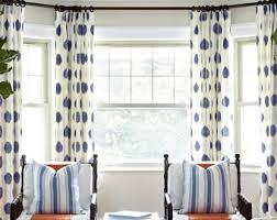 Extra Wide Drapes Blue Green Curtains Etsy
