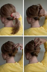 hairstyle how to gather your hair into a low ponytail twist your