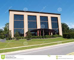 3 Story Building Three Story Office Building With Glass Front Royalty Free Stock