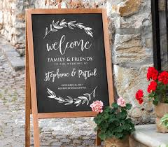wedding welcome sign template printable wedding welcome sign rustic chalkboard wedding digital