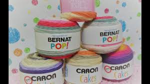 caron cakes bernat pop premier sweet roll yarn review youtube