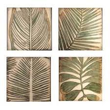 wall ideas design niobe palm leaf wall silver