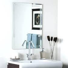 frameless picture hanging frameless bathroom wall mirrors bathroom mirrors bevel wall mirror