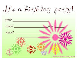free birthday invitations free birthday invitations with stylish