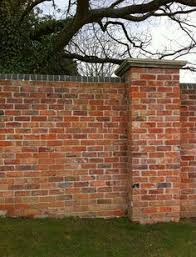 brick wall capping example i like the look of this wall and