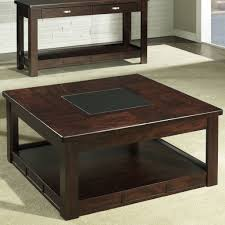 furniture perfect stained wood square coffee table design for