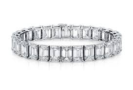 diamond emerald bracelet images Emerald cut diamond platinum bracelet stephen wiseley jewelers jpg