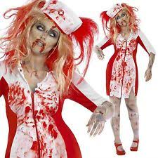 Bloody Nurse Halloween Costume Ladies Zombie Bloody Nurse Halloween Fancy Dress Costume