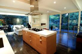 kitchen room open kitchen designs with wooden floor and fireplace