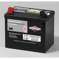 shop briggs u0026 stratton 12 volt 365 amp lawn mower battery at lowes com