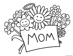 printable mothers day flowers coloring pages printable
