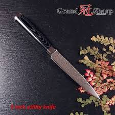 vg10 kitchen knives 5 inch utility knife japanese damascus stainless steel vg10 chef